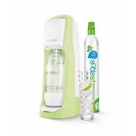 SodaStream Pastels JET PASTEL GRASS GREEN zelený + Láhev dětská SodaStream Příšerky + sirup v hodnotě 399 Kč
