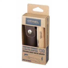Opinel N°8 inox + sheath set (nůž, pouzdro) - buk