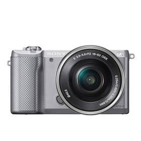 Sony Alpha A5000 + 16-50mm stříbrný + Doprava zdarma