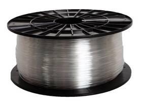 Tlačová struna (filament) Plasty Mladeč 1,75 PETG, 1 kg (F175PETG_TR) priehľadná