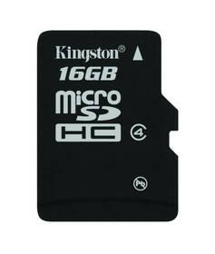 Pamäťová karta Kingston MicroSDHC 16GB Class4 (SDC4/16GBSP)
