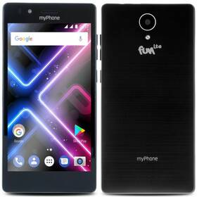 Mobilní telefon myPhone FUN LTE Dual SIM (TELMYAFUNLTEBK) černý (poškozený obal 8800311184)