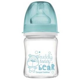 Canpol babies EasyStart PURE glass 120 ml modrá