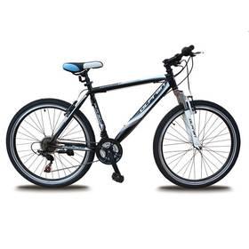 """Olpran 2016 Detroit 26"""" steel size 19"""" s bezpečnostními prvky černé/bílé/modré Sada cyklodoplňků (zvonek+blikačka+světlo) pro kolo dospělé (zdarma) + Doprava zdarma"""