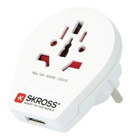 SKROSS pro cizince v ČR, vč. 1x USB 2100mA (PA30USB) bílý