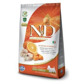 N&D Grain Free Pumpkin DOG Adult Mini Codfish & Orange 2,5kg