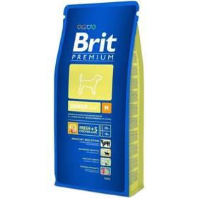 Brit Premium Dog Junior M 15 kg + 3 kg ZDARMA + Doprava zdarma