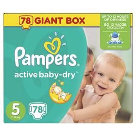 Pampers Active Baby-dry vel.5 Junior, 78ks + Doprava zdarma