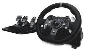 Logitech G920 pro Xbox One, One X, One S, PC + pedály (941-000123) černý Dárek Logitech – Gillette Fusion Proglide Flexball + Doprava zdarma