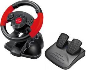 Esperanza EG103 High Octane pro PC, PS1, PS2, PS3 + pedály (EG103) černý/červený + Doprava zdarma