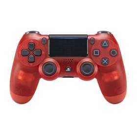 Sony Dual Shock 4 pro PS4 v2 - křišťálově červená (PS719868767) + Doprava zdarma