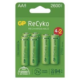 GP ReCyko, HR06, AA, 2600mAh, NiMH, krabička 6ks (1032226270)