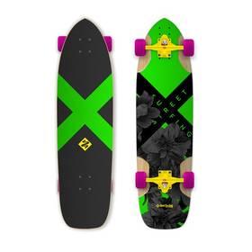 """Street Surfing Freeride 36"""" Electrica + Reflexní sada 2 SportTeam (pásek, přívěsek, samolepky) - zelené v hodnotě 58 Kč + Doprava zdarma"""