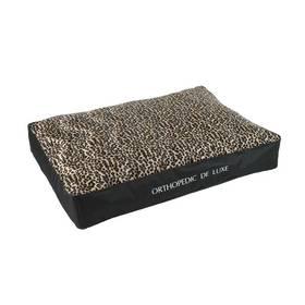 O'Lala Pets ortopedická De Luxe 120 x 85 cm leopard + Doprava zdarma