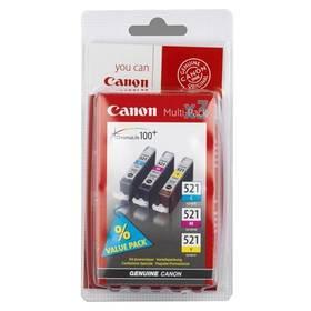 Inkoustová náplň Canon CLI-521, 350 stran (2934B007) modrá/žlutá/růžová