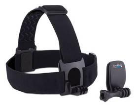 Popruh GoPro k uchycení na hlavu + QuickClip (ACHOM-001) čierne