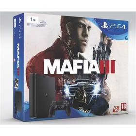 Sony PlayStation 4 SLIM 1TB + MAFIA III (PS719896654) černá + Gamepad Sony Dual Shock 4 pro PS4 v2 - modrý v hodnotě 1 299 Kč + Doprava zdarma