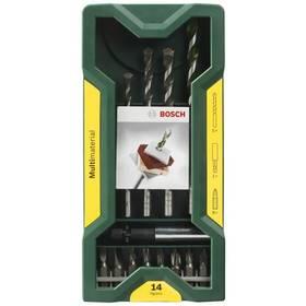 Sada vrtákov a bitov Bosch 14 dílná Multimaterial Mini X-Line Set