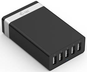 i-tec Smart Charger, 5x USB, 2,4A (CHARGER5P40W) černá + Doprava zdarma