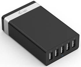 i-tec Smart Charger, 5x USB, 2,4A (CHARGER5P40W) černá