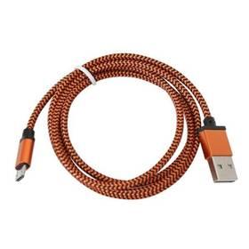 Kábel PLATINET USB/micro USB, 1m (PUCFB1-OE) oranžový
