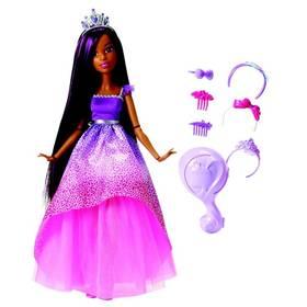 Mattel vysoká princezna s dlouhými vlasy brunetka