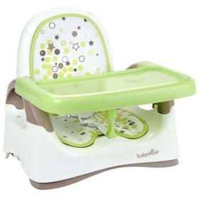 Jedálenská stolička Babymoov Compact Seat biela/zelená/hnedá