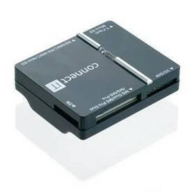Čítačka pamäťových kariet Connect IT USB + SIM, WAVE (CI-86) čierna