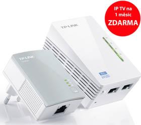 TP-Link TL-WPA4220 KIT + IP TV na 1 měsíc ZDARMA (TL-WPA4220KIT) bílý + Doprava zdarma