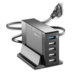 CellularLine Energy Station QC 3.0, 5 x USB, max 50W (ACHUSB5QUAL9Ak) čierna