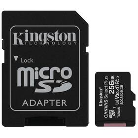 Kingston Canvas Select Plus MicroSDXC 256GB UHS-I U1 (100R/85W) + adapter (SDCS2/256GB)