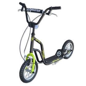 """Master Ride 12"""" černá/zelená + Reflexní sada 2 SportTeam (pásek, přívěsek, samolepky) - zelené v hodnotě 58 Kč"""