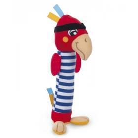 Canpol babies Pirates, plyšový papoušek bílé/červené/modré
