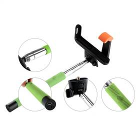 Selfie tyč GoGEN 2 teleskopická, bluetooth, zelená