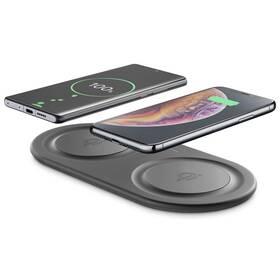 CellularLine Fast Charger Dual, 2x 10W (WIRELESSDUALPADK) čierna