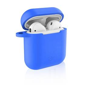 Celly Aircase pro Apple AirPods + nástavce do uší (AIRCASEBL) modré