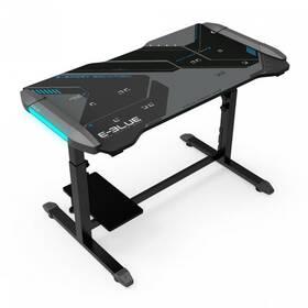 E-Blue 113 x 59,5cm, podsvícený, nastavitelná výška (EGT574BKAA-IA) černý