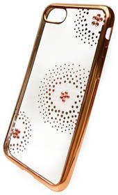 Beeyo Flower Dots pro Apple iPhone 8/7 (BEAAPIP7TPUFLGO) zlatý + Doprava zdarma