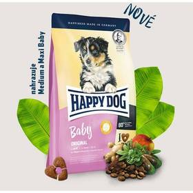 HAPPY DOG Baby Original 10 kg Konzerva HAPPY DOG Truthahn Pur - 100% krůtí maso 200 g (zdarma) + Doprava zdarma