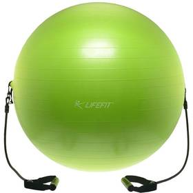 LIFEFIT s expanderem GYMBALL EXPAND 65 cm zelený