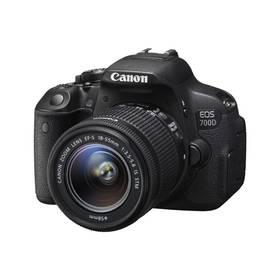 Canon EOS EOS 700D;18-55 STM (8596B091) černý + Doprava zdarma