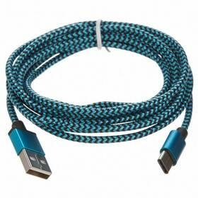 CellFish USB/USB-C, 2m (PLUSBCKABELBLUE2M) modrý