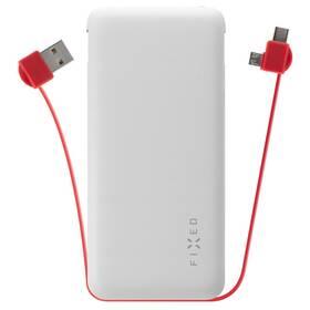 Power Bank FIXED Zen 10 000mAh, s kabelem USB/Micro USB, USB-C (FIXZEN-10MC-WH) biela
