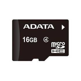 ADATA microSDHC karta 16GB Class 4 + OTG čtečka USB 2.0, micro USB (AUSDH16GUICL10-ROTGMBK)