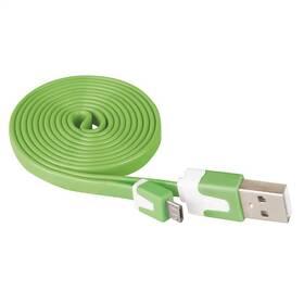 EMOS MicroUSB, 1m zelený