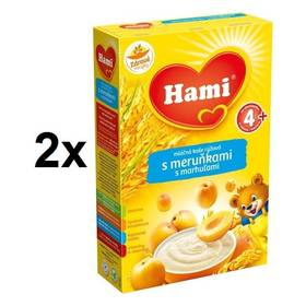 Hami rýžová s meruňkami 4M, 225g x 2ks