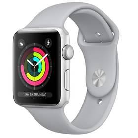 Apple Watch Series 3 GPS 42mm pouzdro ze stříbrného hliníku - mlhově šedý sportovní řemínek (MQL02CN/A) + Doprava zdarma