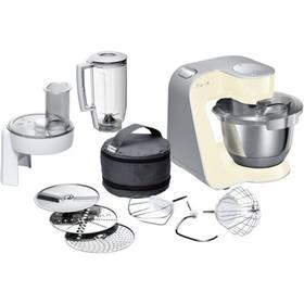 Bosch CreationLine MUM58920 stříbrný/krémový + K nákupu poukaz v hodnotě 1 000 Kč na další nákup + Doprava zdarma