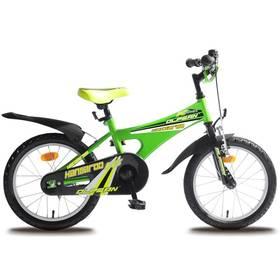 """Olpran Kangaroo 16"""" černý/zelený + Reflexní sada 2 SportTeam (pásek, přívěsek, samolepky) - zelené v hodnotě 58 Kč + Doprava zdarma"""