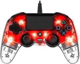 Nacon Wired Compact Controller pro PS4 (ps4hwnaconwicccred) červený/průhledný
